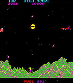 In game image of Mars on the Arcade.