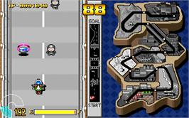 In game image of Masked Riders Club Battle Race on the Arcade.