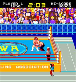 In game image of Mat Mania on the Arcade.