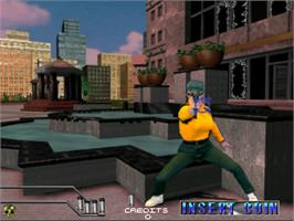 In game image of Maximum Force v1.05 on the Arcade.