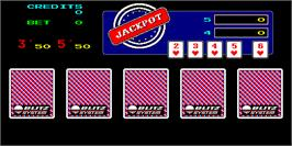 In game image of Mega Double Poker Jackpot on the Arcade.