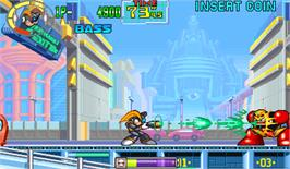 In game image of Mega Man: The Power Battle on the Arcade.