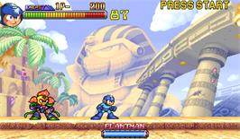 In game image of Mega Man 2: The Power Fighters on the Arcade.