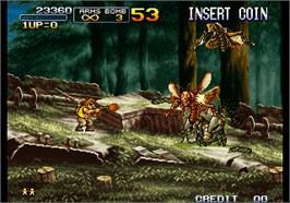 In game image of Metal Slug 3 on the Arcade.