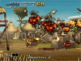 In game image of Metal Slug 6 on the Arcade.
