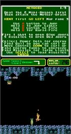 In game image of Metroid on the Arcade.