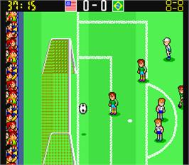 In game image of Mexico 86 on the Arcade.