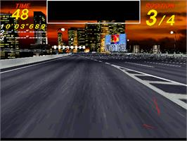 In game image of Midnight Run on the Arcade.