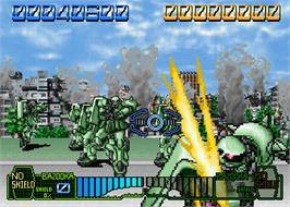 In game image of Mobil Suit Gundam Final Shooting on the Arcade.