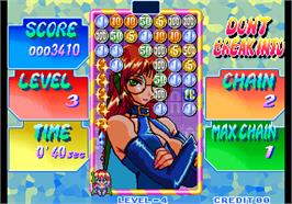 In game image of Money Puzzle Exchanger / Money Idol Exchanger on the Arcade.