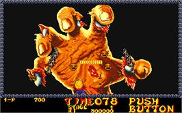In game image of Monsters World on the Arcade.