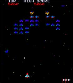 In game image of Moon Alien on the Arcade.