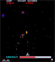 In game image of Moon Alien Part 2 on the Arcade.