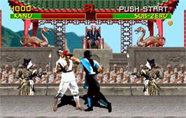 In game image of Mortal Kombat on the Arcade.