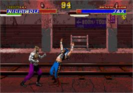 In game image of Mortal Kombat 3 on the Arcade.