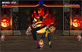 In game image of Mortal Kombat 4 on the Arcade.