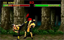 In game image of Mortal Kombat II on the Arcade.