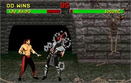 In game image of Mortal Kombat II Challenger on the Arcade.
