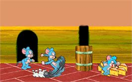 In game image of Mouse Attack on the Arcade.