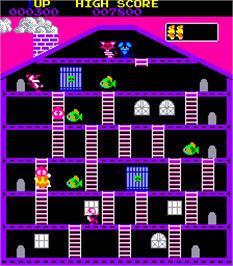 In game image of Mouser on the Arcade.