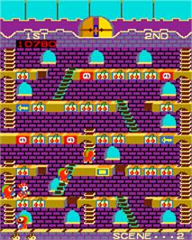 In game image of Mr. Do's Castle on the Arcade.