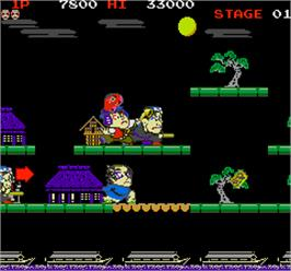 In game image of Mr. Goemon on the Arcade.