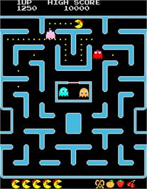 In game image of Ms. Pac-Man/Galaga - 20th Anniversary Class of 1981 Reunion on the Arcade.