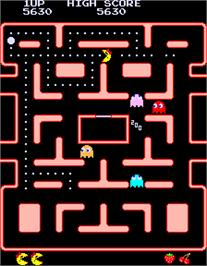 In game image of Ms. Pac-Man on the Arcade.