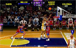 In game image of NBA Hangtime on the Arcade.