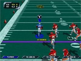 In game image of NFL Blitz '99 on the Arcade.