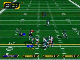 In game image of NFL Blitz 2000 Gold Edition on the Arcade.