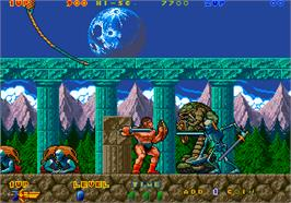 In game image of Nastar Warrior on the Arcade.