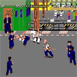 In game image of Nekketsu Kouha Kunio-kun on the Arcade.