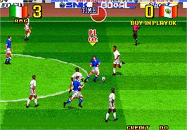 In game image of Neo-Geo Cup '98 - The Road to the Victory on the Arcade.