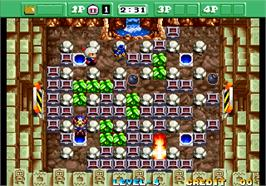 In game image of Neo Bomberman on the Arcade.