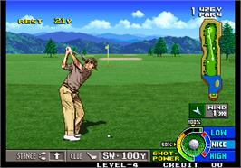 In game image of Neo Turf Masters / Big Tournament Golf on the Arcade.