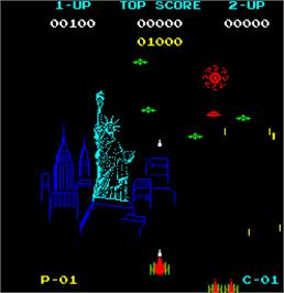 In game image of New York! New York! on the Arcade.