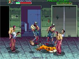 In game image of Night Slashers on the Arcade.