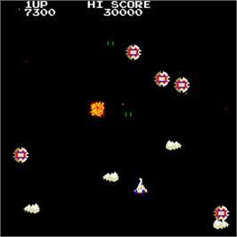 In game image of Night Star on the Arcade.