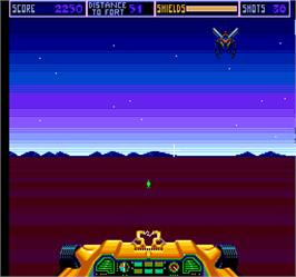In game image of Night Stocker on the Arcade.