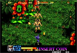 In game image of Ninja Commando on the Arcade.