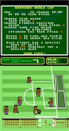 In game image of Nintendo World Cup on the Arcade.