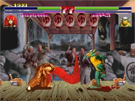 In game image of Oedo Fight on the Arcade.