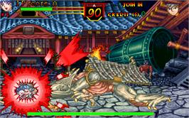 In game image of Oni - The Ninja Master on the Arcade.
