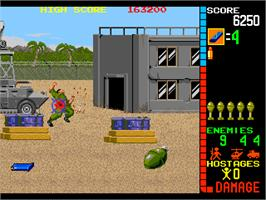 In game image of Operation Bear on the Arcade.