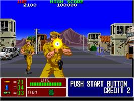 In game image of Operation Thunderbolt on the Arcade.