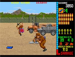 In game image of Operation Wolf on the Arcade.