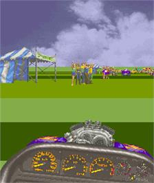 In game image of Over Drive on the Arcade.