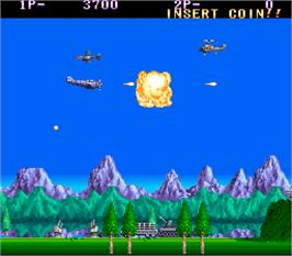 In game image of P-47 - The Freedom Fighter on the Arcade.