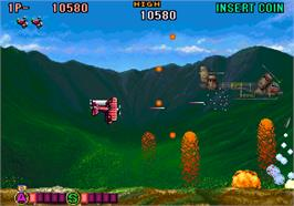 In game image of P-47 Aces on the Arcade.